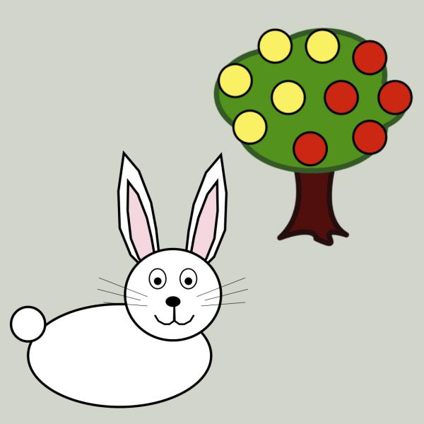 Bunny with Berries